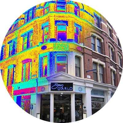 Фасадная съемка, замер фасадов, обмер фасадов, лазерное сканирование фасада